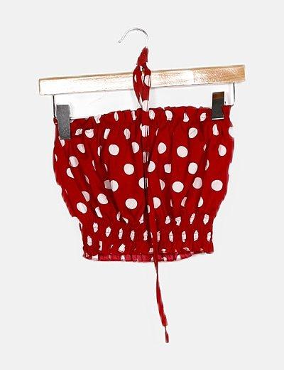 Top rojo polka dot