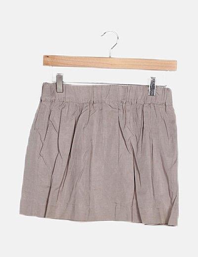 Falda mini gris