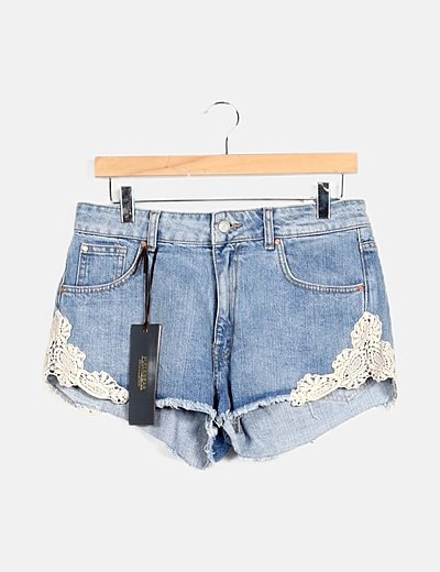Shorts denim detalle bordado