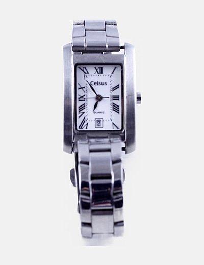 Reloj analógico plateado
