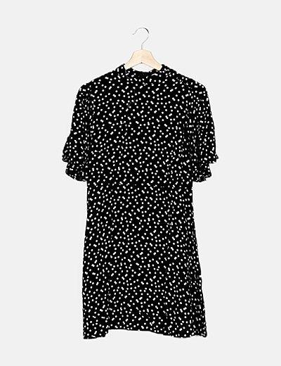Vestido bicolor dots
