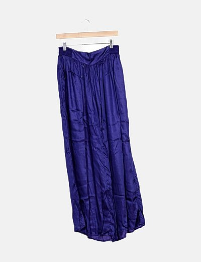 Pantalón azul fluido