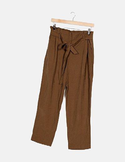 Pantalón verde fluido