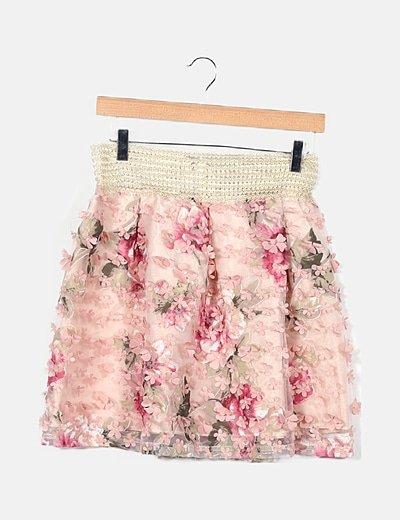 Falda rosa fora