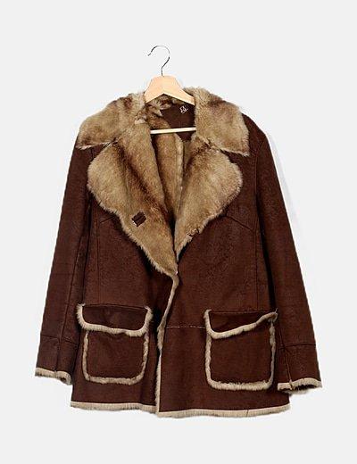 Abrigo marrón doble faz