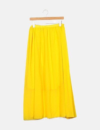 Falda fluida amarilla
