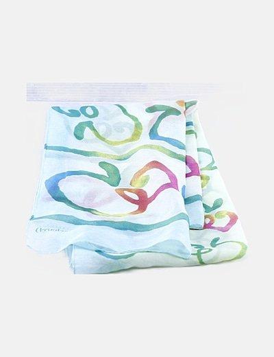 Pañuelo multicolor estampado
