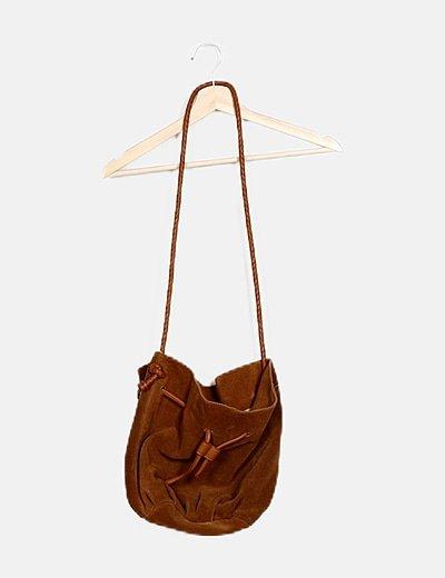 Bolso saco marrón antelina