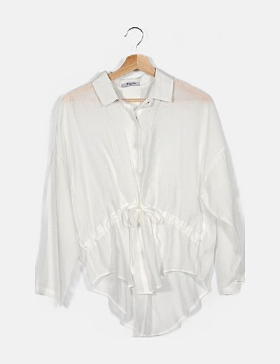 Camisa blanca cintura ajustable