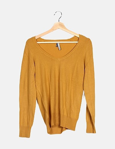 Jersey tricot mostaza