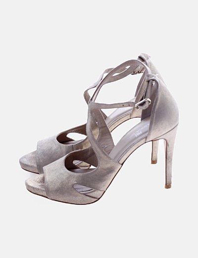 Sandalia glitter tacón