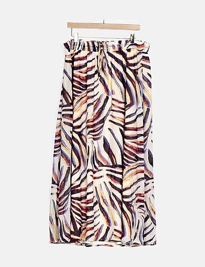 Falda maxi animal print multicolor
