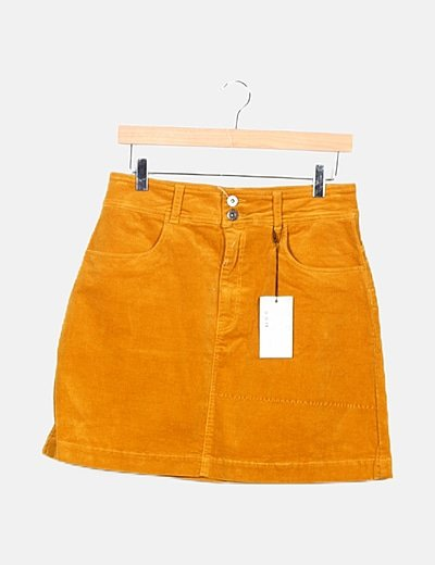 Minifalda pana amarillo