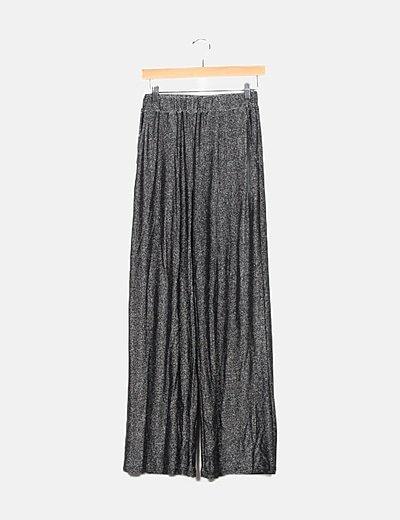 Pantalón plateado lurex
