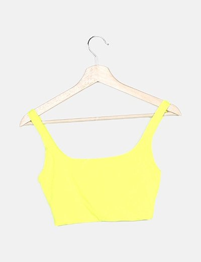 Crop top amarillo flúor