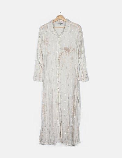 Camisola blanca estampado plata