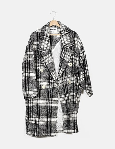 Abrigo bicolor cuadros