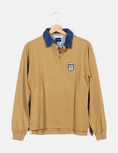 Camiseta manga larga camel