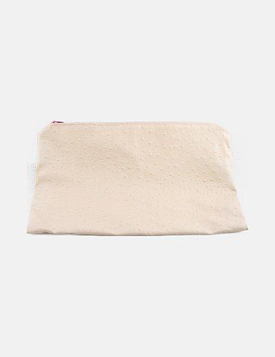 Bolso de mano nude texturizado