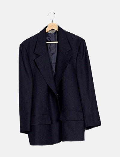 Conjunto blazer y falda azul marino