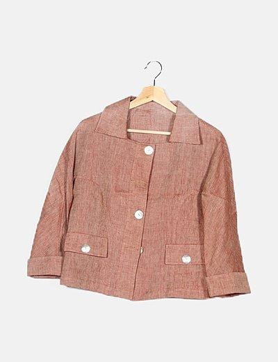 Conjunto chaqueta y pantalones roja