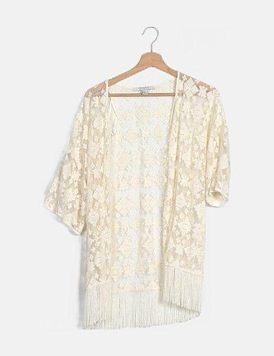 Kimono blanco bordado