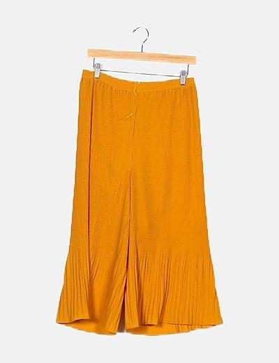 Pantalón mostaza plisado