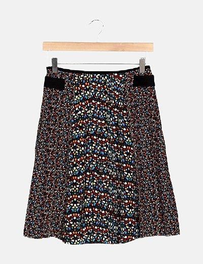 Falda multicolor motas