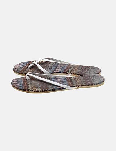 Sandalia blanca tiras