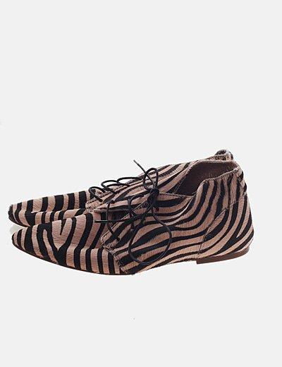 Zapato pelo print animal