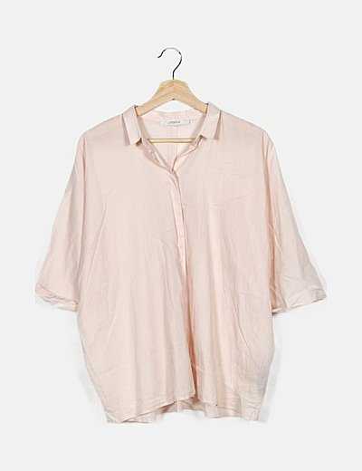 Camisa rosa fluida