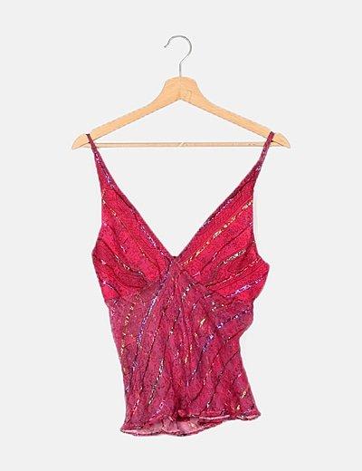 Blusa rosa con glitter
