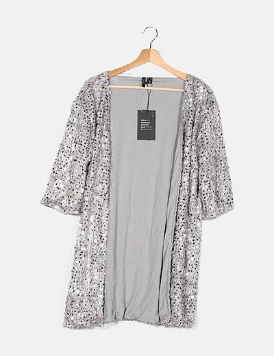Kimono plateado pallets