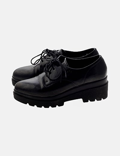Zapato negro piel