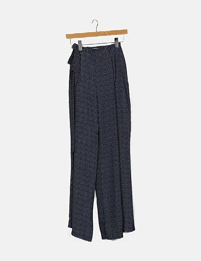 Pantalón bicolor estampado
