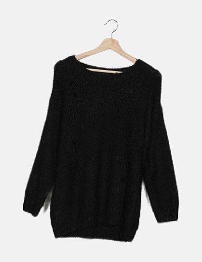 Jersey texturizado negro