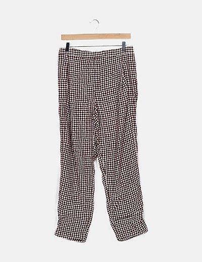 Pantalón bicolor cuadros