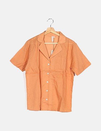 Conjunto camisa y short melocotón