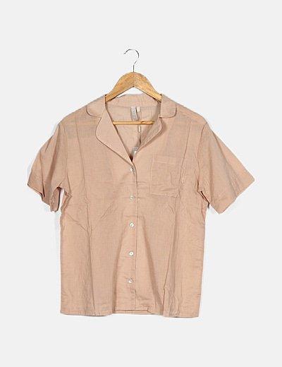 Conjunto camisa y short nude