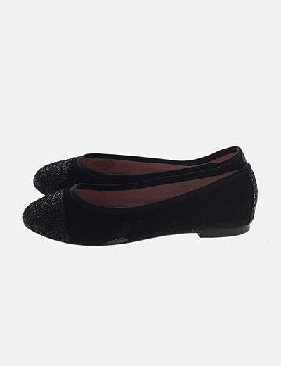Bailarina negra glitter