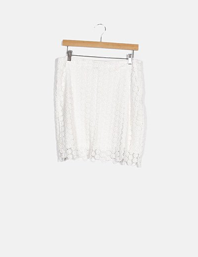 Short blanco crochet