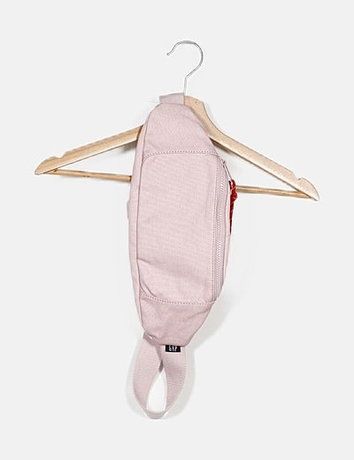 Riñonera rosa tela