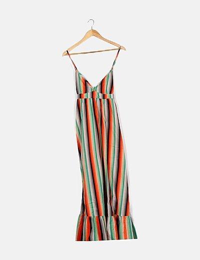 Vestido multicolor rayas
