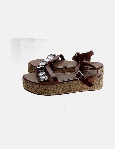 Sandalias plataforma con strass