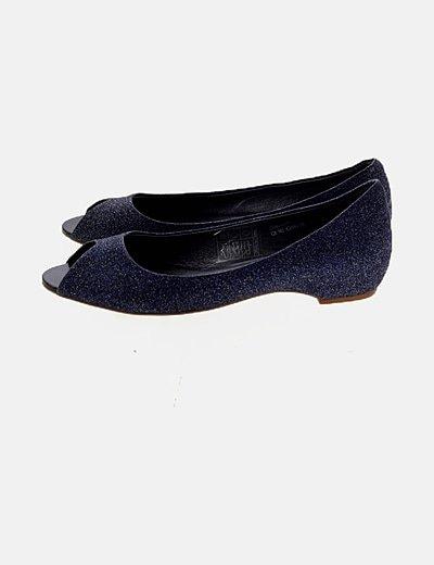 Zapato azul glitter