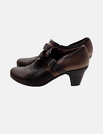 Zapato bicolor piel