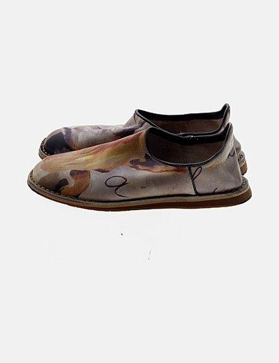 Zapatos planos multicolor