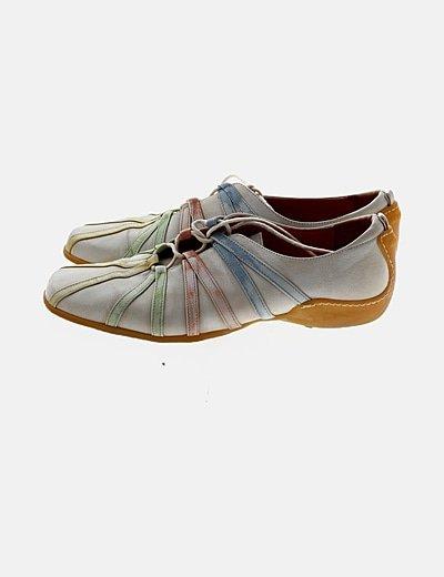 Zapato rayas multicolor