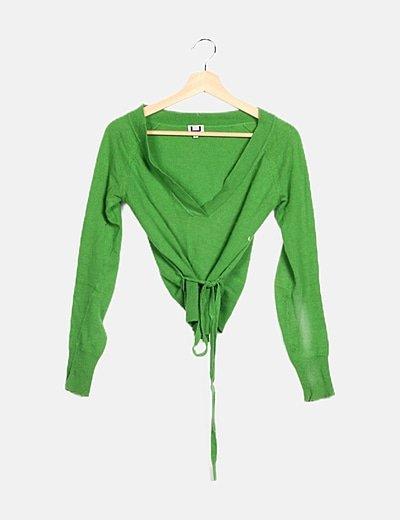 Jersey verde escote pico