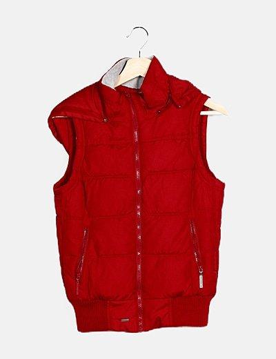 Chaleco rojo acolchado